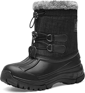 Kids Snow Boots Boys & Girls Winter Boots Lightweight Waterproof Cold Weather Outdoor Boots  (Toddler/Little Kid/Big Kid)