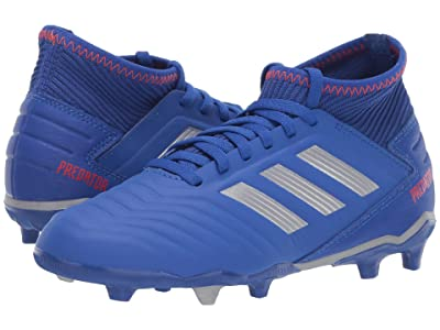 adidas Kids Predator 19.3 FG Soccer (Little Kid/Big Kid) (Blue/Silver/Active Red) Kids Shoes
