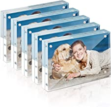TWING Frames 4x6 Acrylic Picture Frame Set -12 + 12MM Thickness Clear Photo Frame (4 x 6 5 Pack)