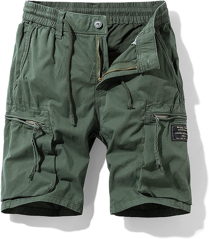 Zhang Q Spring Men Cotton Cargo Shorts Clothing Summer Casual Breeches Bermuda Fashion Beach Pants Los Cortos Short-Green3-30