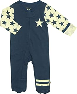 Zipper Footies - Baby Footed Pajamas Sleeper Solid Star Colors 0-18 Months