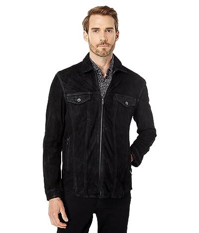 John Varvatos Star U.S.A. Davis Leather Zip Front Shirt Jacket L1361X1B
