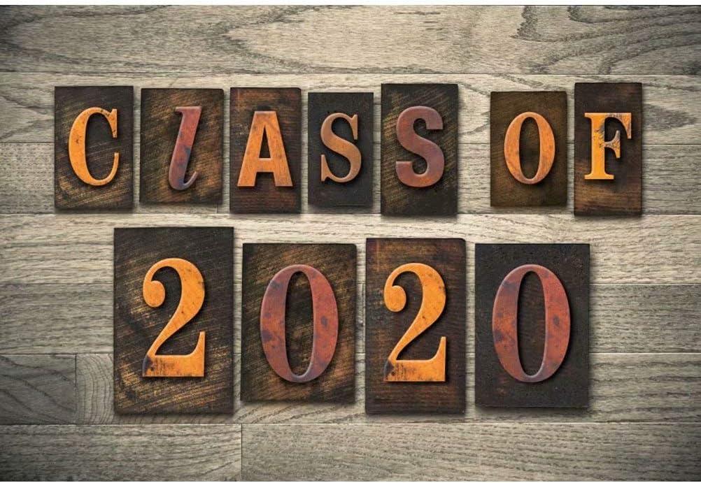 DaShan 14x10ft 2020 Class Graduation Backdrop Bachelor Cap Colleage Grad Graduation Celebration Party Banner Photography Background Prom 2020 Cake Table Banner Rustic Wooden Photo Studio Props