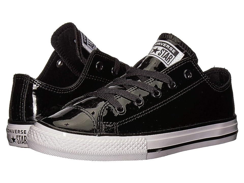 c1ffbccb358f01 Converse Kids Chuck Taylor All Star Patent Ox (Little Kid Big Kid) (Black  Black White) Girl s Shoes