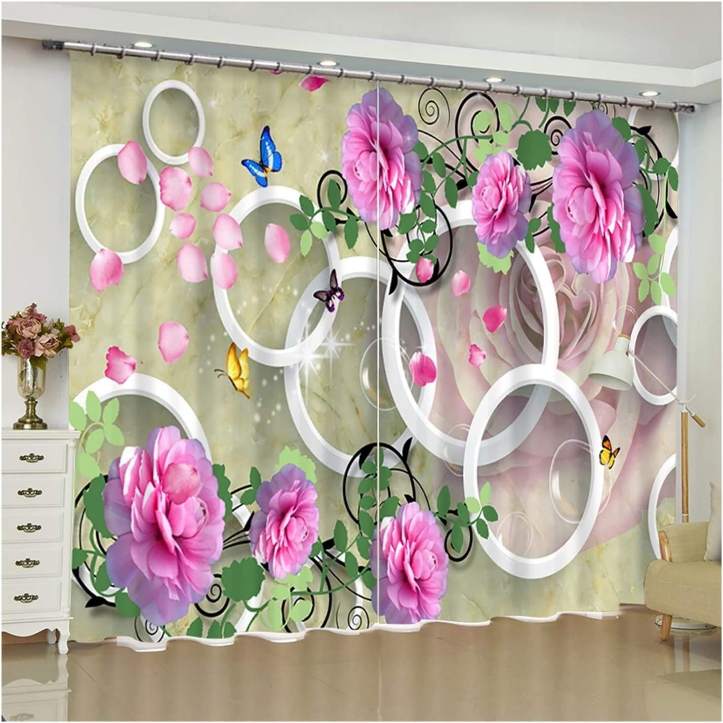 Daesar Drapes Curtains 4 years warranty for Living 2 P Max 53% OFF Room Bedroom
