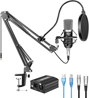 Neewer NW-700 Condenser Microphone Kit with USB 48V Phantom Power Supply, NW-35 Suspension Scissor Arm Stand, Shock Mount,...