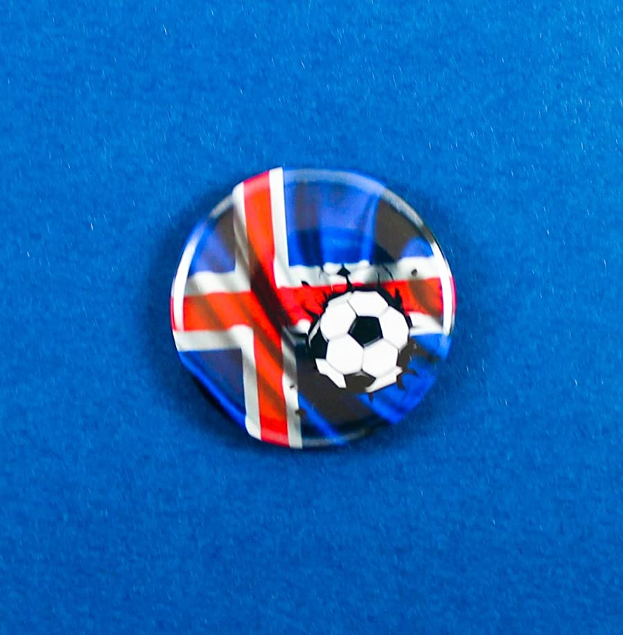 Iceland Magnet Button