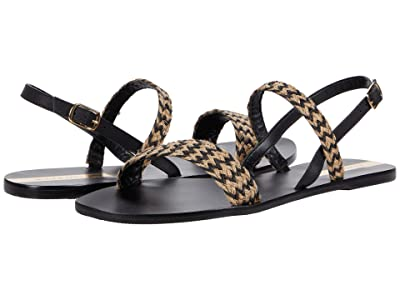 KAANAS Valadares Braided Yute Sandal (Black) Women