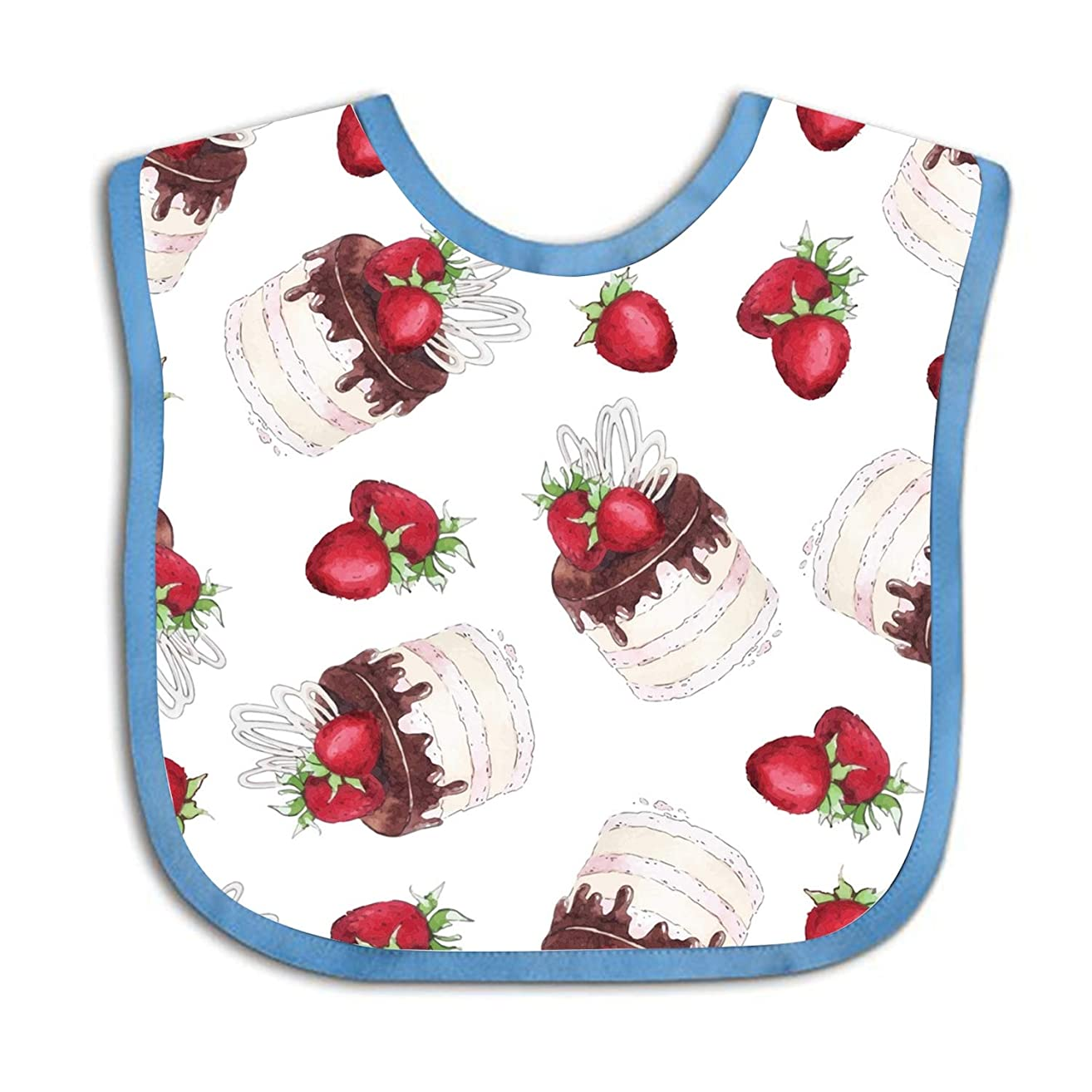 Strawberry Mousse Custom Baby Boy Bibs and Burps Teething Bibs for Infant