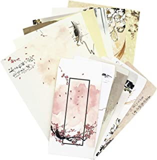 Stationary Paper and Envelopes Set,36PCS Stationary Set (24 stationery Papers + 12 Envelopes) 6 Different Color Ink Painti...