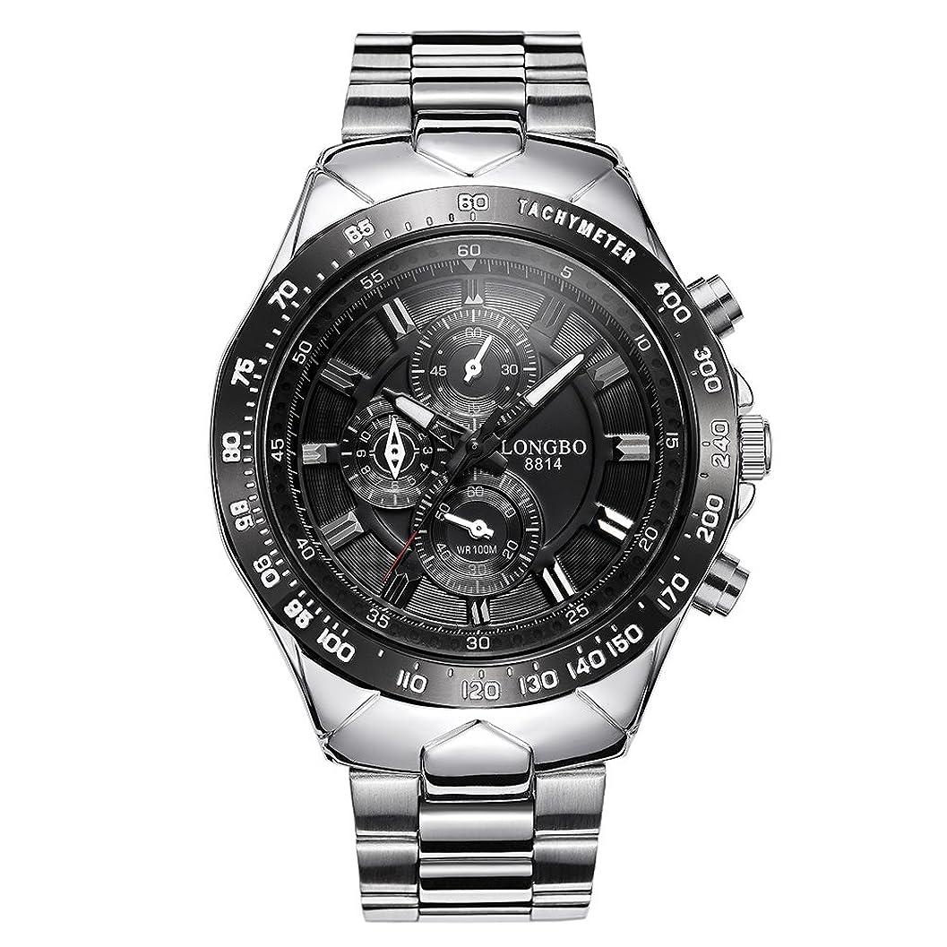 ラフネクタイ定期的にRockyu 腕時計 メンズ ビジネス ブラック 黒 30M 生活防水 ファッション ステンレス 時計 ブランド [並行輸入品]