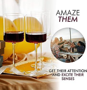 Wine Glasses, Large Red Wine or White Wine Glass Set of 4 - Unique Women, Men, Wedding, Anniversary, Christmas, Birthday - 14
