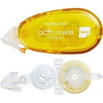コクヨ テープのり のり ドットライナー コンパクト 弱粘着 本体 詰め替え 黄 タ-DM4510-08SET