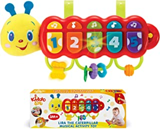 KiddoLab Lira The Caterpillar, Baby Music Light Up Toy Piano for 3 Months Age and Older Babies. Attachment for Crib, Strol...