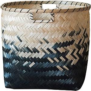 TIANLONG Storage basket Laundry Basket Storage Basket Bamboo Color Hand-made Art Debris National Wind Bedroom Living Room Stitching  Size
