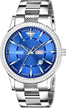 Eddy Hager Blue Dial Day and Date Watch - for Men EH-270-BL