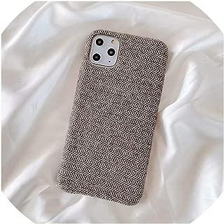 正午ぬいぐるみ生地電話ケースiPhone 11プロX XS最大XR 8 7 6 s 6プラス超薄型キャンバスソフトシリコンバックカバー、iPhone XS Maxのため、b