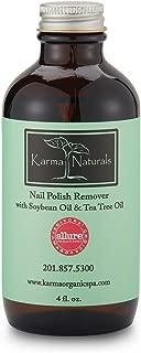 Karma Naturals Nail Polish Remover with Soybean Oil & Tea Tree Oil, 4 fl.oz.
