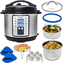 Yedi 9-in-1 Total Package Instant Programmable Pressure Cooker XL, 8 Quart, Deluxe..