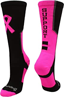 boys breast cancer awareness socks
