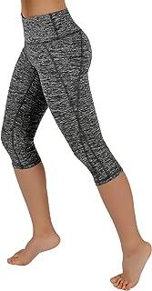 ODODOS Power Flex Yoga Capris Pants Tummy Control Workout Running 4 Way Stretch Yoga Capris Leggings