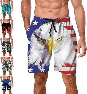 2111e85e26 Freshhoodies Mens Hawaiian Swim Trunks Coconut Palm Tree Beach Board Shorts  with Mesh Lining Swimwear Bathing