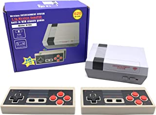 zhikulong Classic Mini Retro Home Wireless TV Game Console, Built-in 620 Classic Games and 2 Wireless Controllers, Wireles...