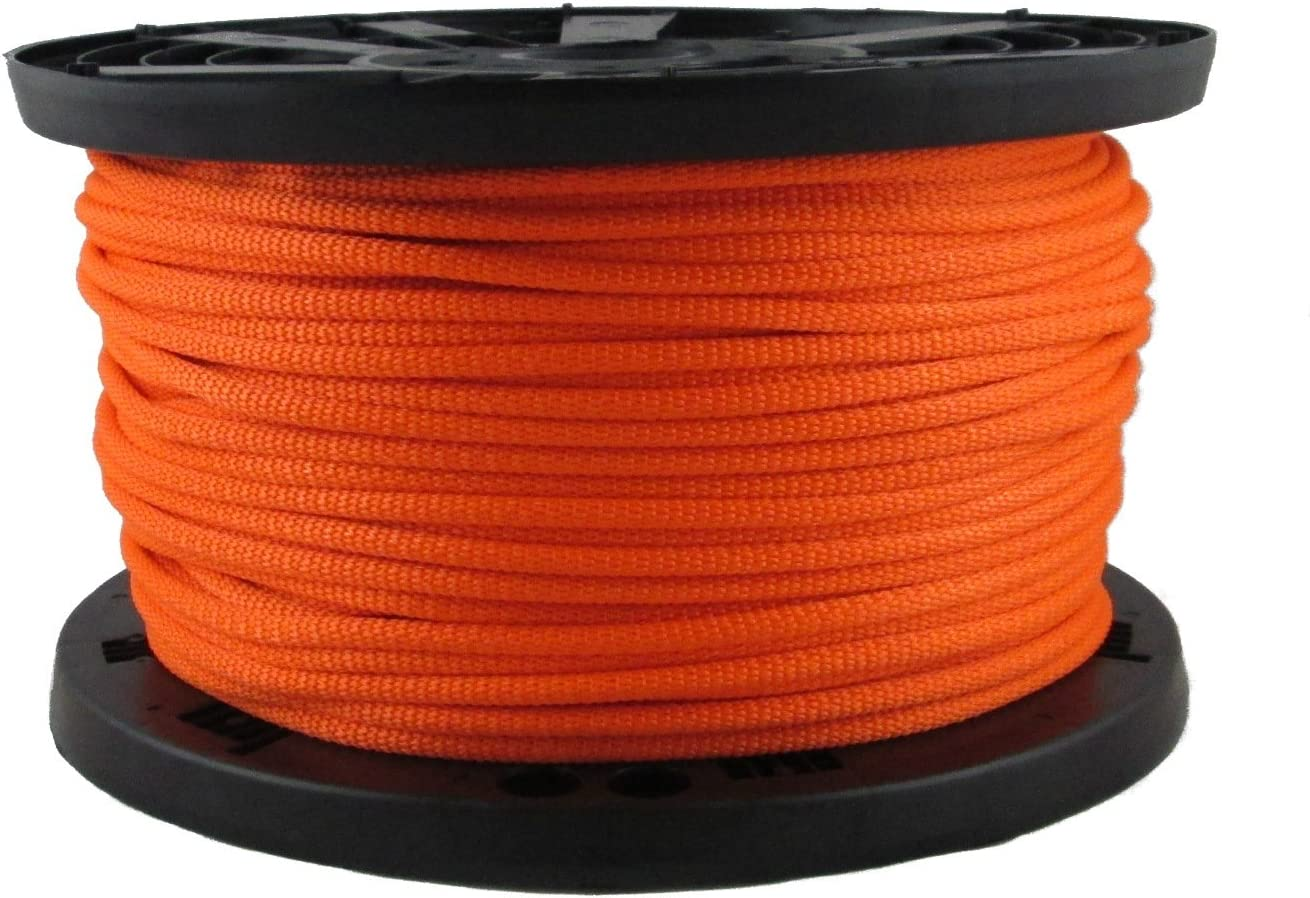1 4 inch Neon Ranking TOP15 Orange Polyester Rope 500 Spool Foot - Solid Omaha Mall Bra
