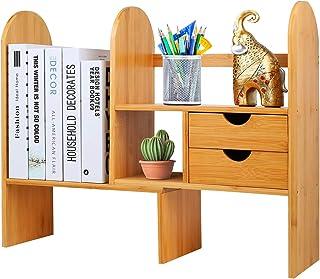 Hossejoy Bamboo Adjustable Desktop Bookshelf Counter Top Boo