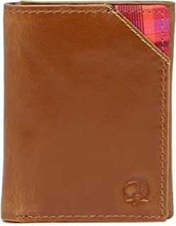Men's Derby Leather RFID Trifold Wallet, One Size, Tan