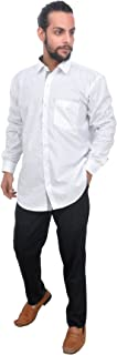 The Mods Men's Formal White Color Shirt