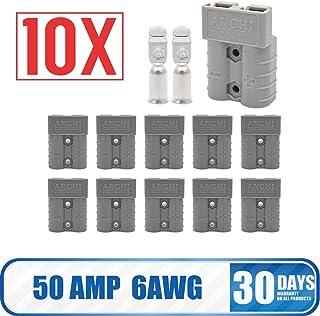 Maso Batterieanschluss   Anderson Verbindungsstecker 50 Amp, 600 V   Kabelklemme   Starthilfe, grau, 10 Stück