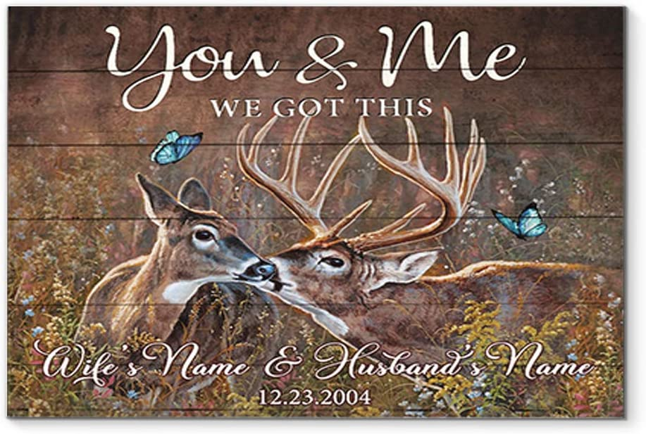 DesDirect Store Deer You Me Fixed price for sale We Got Mail order cheap Decor Your Wife This Art an