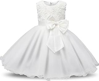 43a816a22 Gold Treasure Bebé Poco Bowknot Vestido de Niña Princesa Flores Encaje Vestido  de Dama de Honor