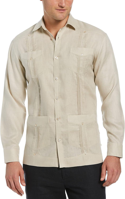 Cubavera Men's Long Sleeve 100% Linen Guayabera