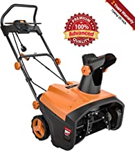 TACKLIFE Snow Blower, 15Amp Electric Snow Blower, 20 INCH Width Steal Auger, 30ft..