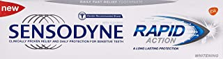 Sensodyne Rapid Action Whitening Toothpaste for Sensitive Teeth, 75 ml