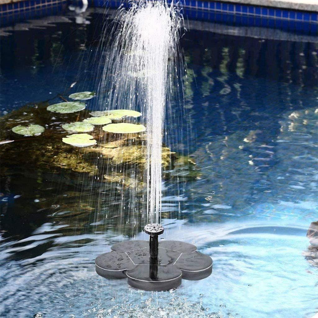 yanzi Bomba Agua Solar Fuente Agua, Bomba Solar Sumergible Cascada, Panel Solar Flotante Fuente Agua Baño Pájaros Jardín Acuario Piscina Solárium: Amazon.es: Jardín