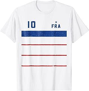 France 2018 Mariniere Away Soccer T-Shirt