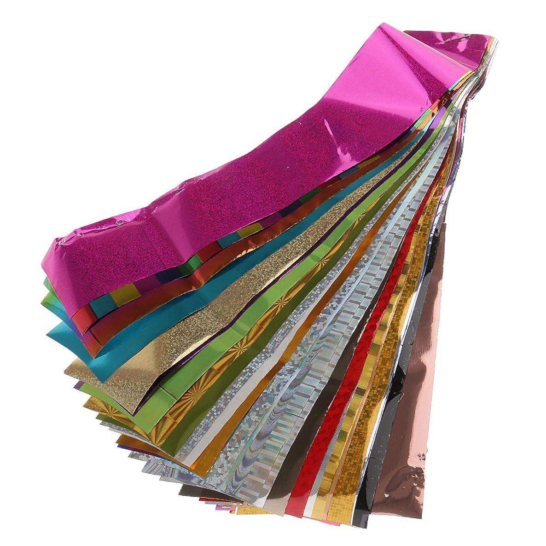 警報教え欺Perfk 50個/セット 爪 転送箔 キラキラ ネイルアート ステッカー デカール DIY 装飾 魅力的 人気