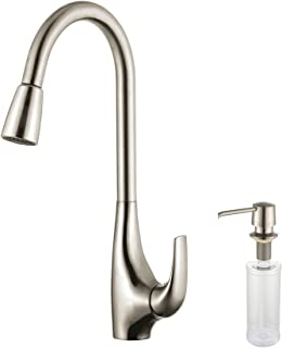Kraus KPF-1621-KSD-30SS Single Lever Pull Down Kitchen Faucet Stainless Steel Finish and Soap Dispenser