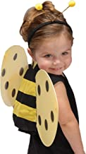 GiftExpress Honey Bee Wings & Headband Antenna Costume Set, Bumblebee Costume, Halloween Dress-Up Play Set for Kids and Toddlers