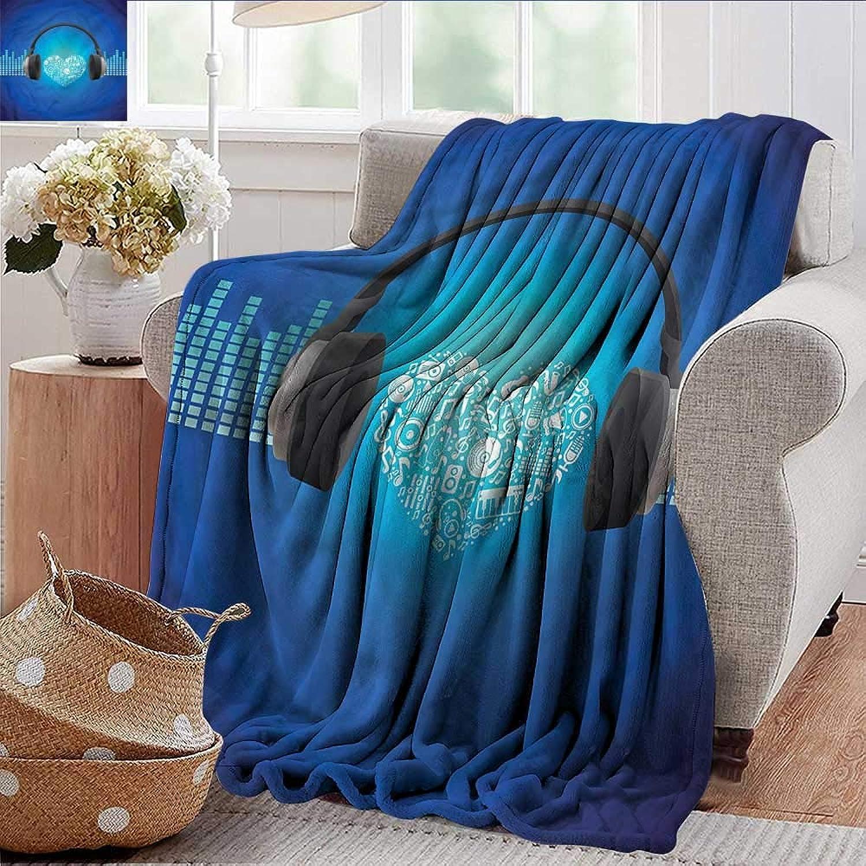 Xaviera Doherty Summer Blanket Music,Heart Icon Earphones Weighted Blanket for Adults Kids, Better Deeper Sleep 35 x60