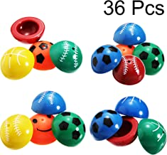 Blulu 36 Pieces Rubber Pop Up Popper Toys Set Colorful Sports Poppers Pop Up Dropper Toy for Game Prizes Party Favor and Gift (Sports)