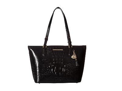 Brahmin Melbourne Medium Asher Bag (Black) Tote Handbags
