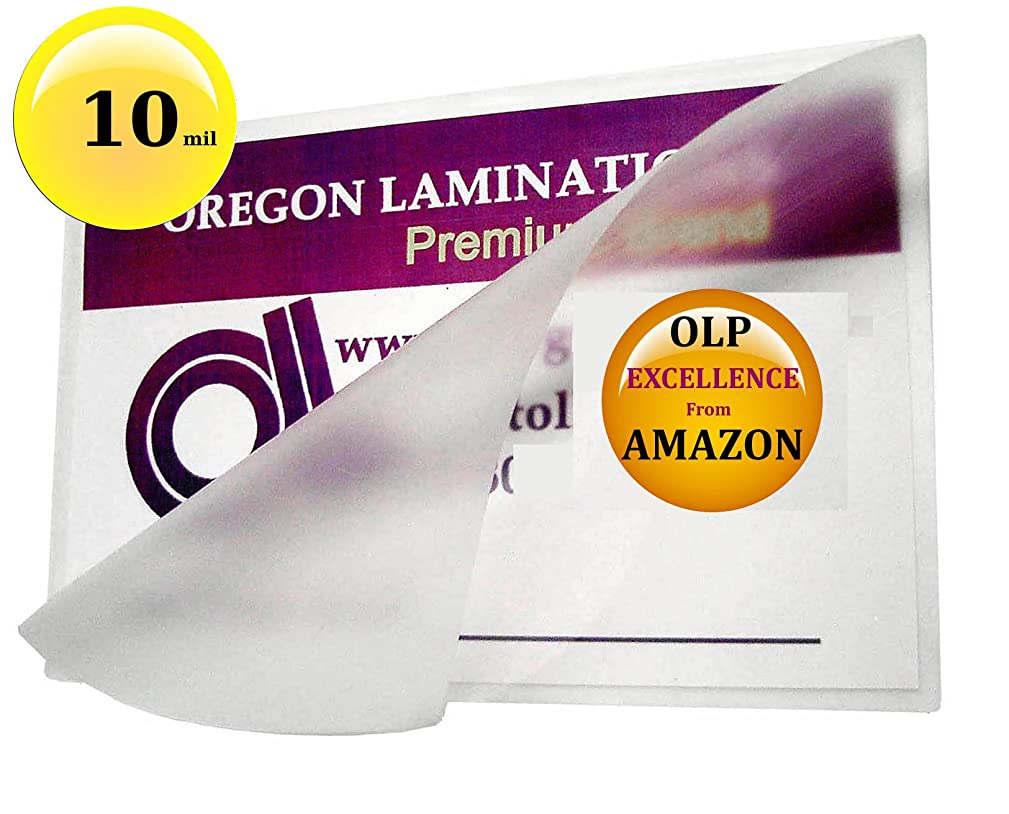 Oregon Lamination Hot Laminating Pouches [pack of 100] 10 Mil 5-1/4 x 7-1/4 (5x7 Photo size)