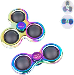 Jilla-hla Colorful Pop Bubble Fidget Toys,Fidget Spinner,Double The Fun and Relieve Stress for Kids(White)