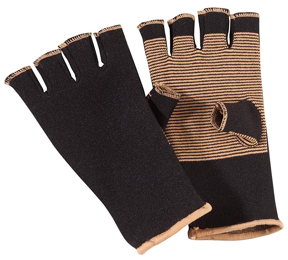 PU LifeStyle Pain Reliefing Max Support Heating Arthritis Therapy Copper Infused Fingerlass Gloves