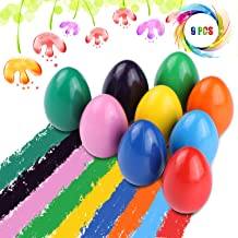 Crayons for Toddlers, Palm Grip Crayons Set 9 Colors Non Toxic Crayons Washable Paint Crayons Stackable Toys for Kids Infants, Baby,Children,Boys and Girls(egg-shaped)