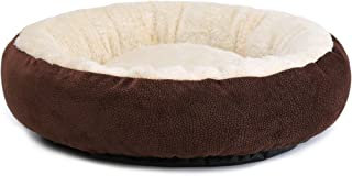 JEMA Round Pet Dog Bed for Cats & Dogs with Non-Slip Waterproof Bottom, Self-Warming Cozy Plush Cushion | Ultra Soft & Comfortable Cuddler Indoor Cat Bed | High-Walls for Improved Sleep …